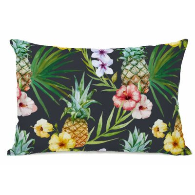 Hawaiian Pineapples Fleece Lumbar Pillow