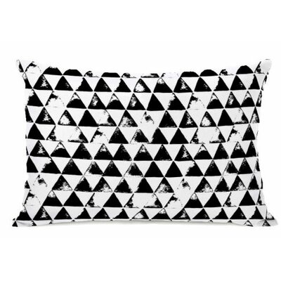 Distressed Triangles Fleece Lumbar Pillow