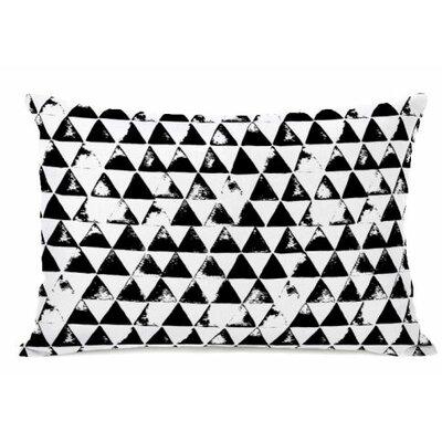Distressed Triangles Fleece Lumbar Pillow
