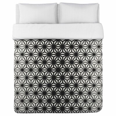 Geo Stars Duvet Cover Size: Twin