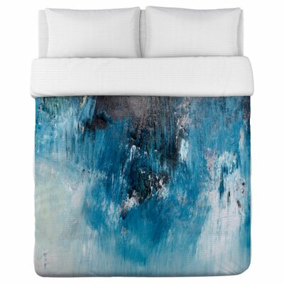 Ocean Oil Painting Duvet Cover Size: King