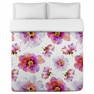 Daisy Days Duvet Cover Size: Twin
