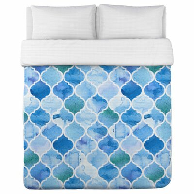 Ocean Moroccan Duvet Cover Size: King