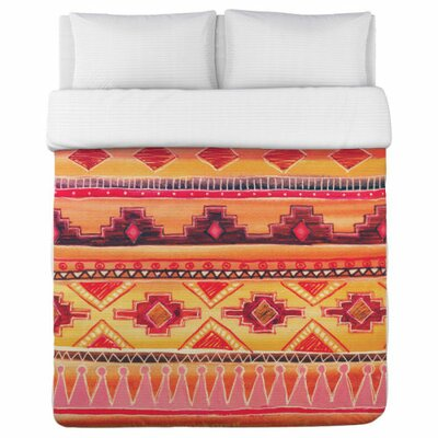 Tequila Sunrise Fleece Duvet Cover Size: Queen