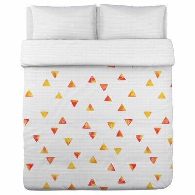 Timeless Triangles Lightweight Duvet Cover Size: Queen
