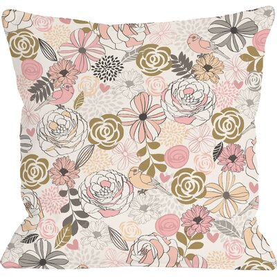 Warm Florals Throw Pillow Size: 16