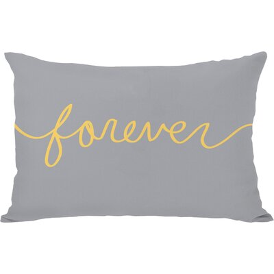 Forever Mix and Match Lumbar Pillow Color: Mimosa / Gray