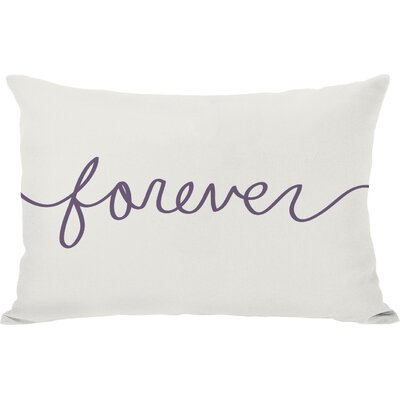 Forever Mix and Match Lumbar Pillow Color: Ivory / Grape
