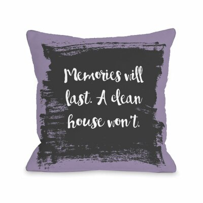 Memories Will Last Throw Pillow