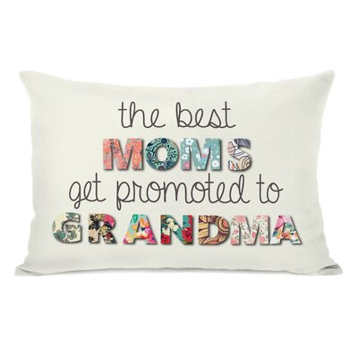 Best Moms Promoted Floral Throw Pillow