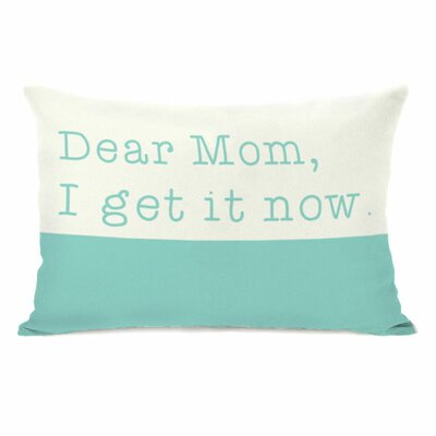 Dear Mom Throw Pillow