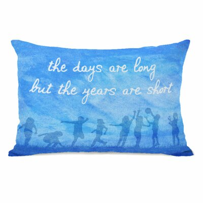 The Days Are Long Throw Pillow