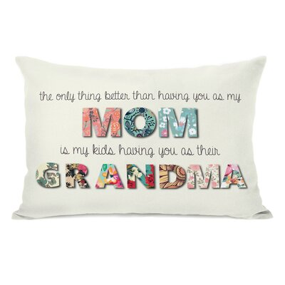 Mom Grandma Floral Throw Pillow