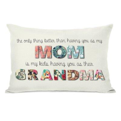 Mom Grandma Floral Throw Pillow