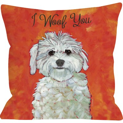Doggy D�cor I Woof You Throw Pillow