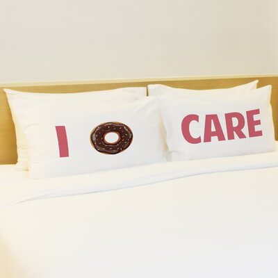 2 Piece I Donut Care Pillow Case Set