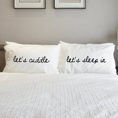 2 Piece Lets Cuddle Pillow Case Set