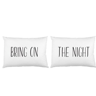 2 Piece Bring on the Night Pillow Case Set