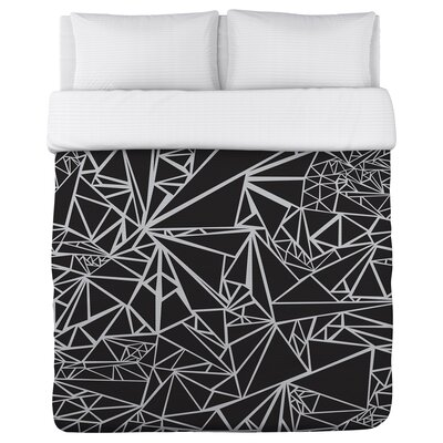 Geo Points Lightweight Duvet Cover Size: Queen