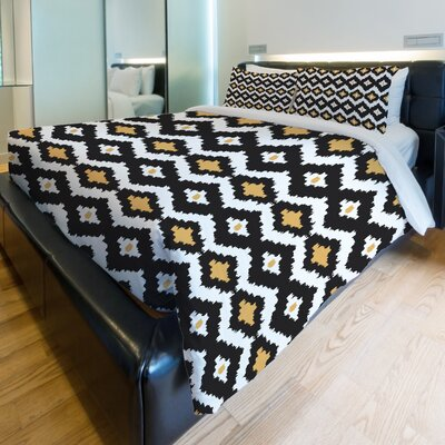 Seamless Ikat Fleece Duvet Cover Size: King