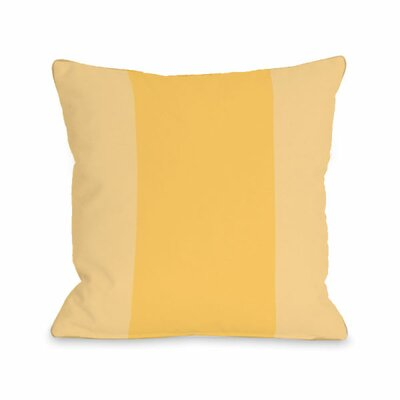 Block Throw Pillow Size: 18 H x 18 W x 3 D, Color: Dandelion