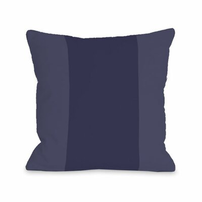Block Throw Pillow Size: 16 H x 16 W x 3 D, Color: Midnight