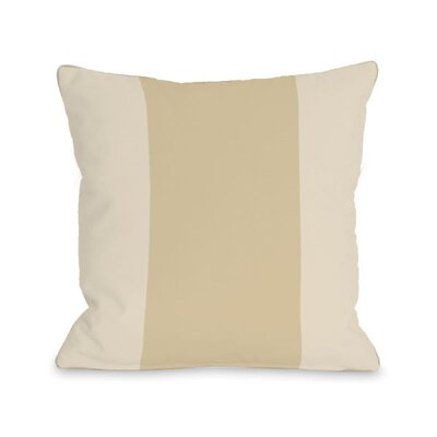Block Throw Pillow Size: 16 H x 16 W x 3 D, Color: Sand