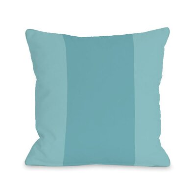 Block Throw Pillow Size: 16 H x 16 W x 3 D, Color: Sky