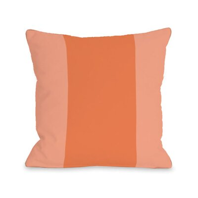 Block Throw Pillow Size: 18 H x 18 W x 3 D, Color: Tangerine
