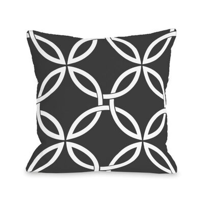 Interwoven Circles Throw Pillow Size: 18 H x 18 W x 3 D, Color: Charcoal