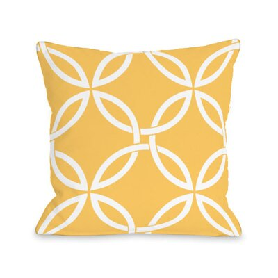 Interwoven Circles Throw Pillow Size: 16 H x 16 W x 3 D, Color: Dandelion