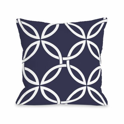Interwoven Circles Throw Pillow Size: 18 H x 18 W x 3 D, Color: Midnight