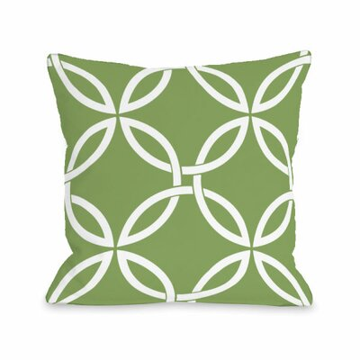 Interwoven Circles Throw Pillow Size: 18 H x 18 W x 3 D, Color: Olive