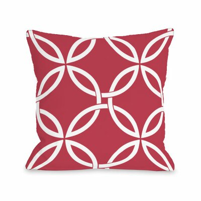 Interwoven Circles Throw Pillow Size: 16 H x 16 W x 3 D, Color: Rose