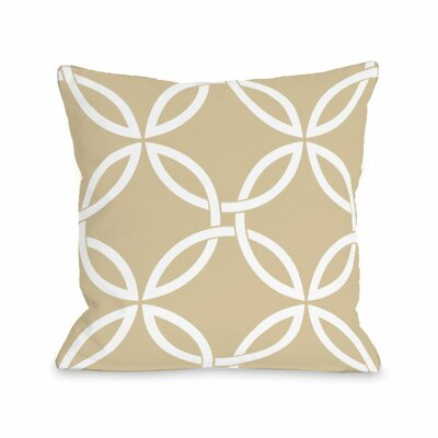 Interwoven Circles Throw Pillow Size: 16 H x 16 W x 3 D, Color: Sand