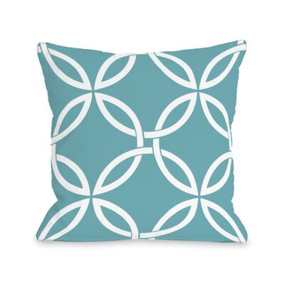 Interwoven Circles Throw Pillow Size: 18 H x 18 W x 3 D, Color: Sky