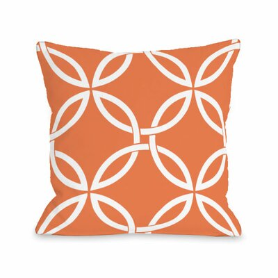 Interwoven Circles Throw Pillow Size: 16 H x 16 W x 3 D, Color: Tangerine