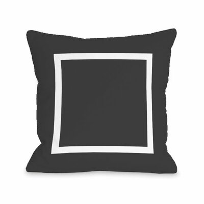 Open Box Throw Pillow Size: 16 H x 16 W x 3 D, Color: Charcoal