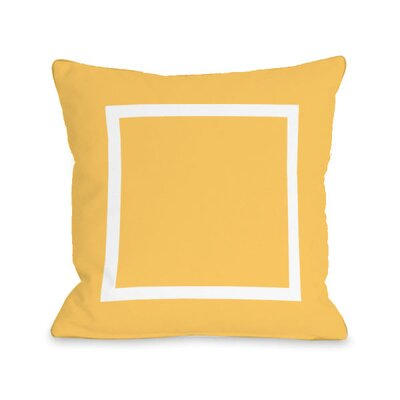 Open Box Throw Pillow Size: 16 H x 16 W x 3 D, Color: Dandelion
