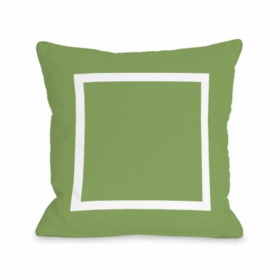 Open Box Throw Pillow Size: 16 H x 16 W x 3 D, Color: Olive