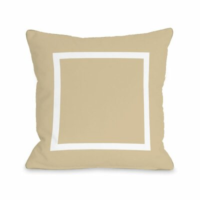 Open Box Throw Pillow Size: 18 H x 18 W x 3 D, Color: Sand