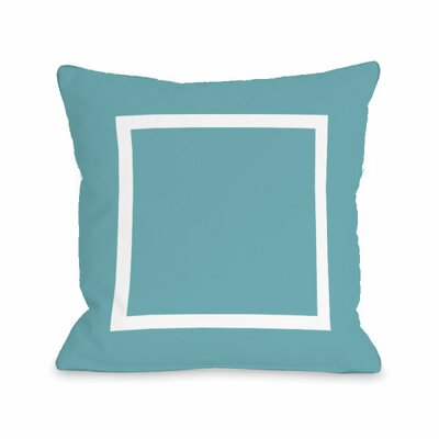 Open Box Throw Pillow Size: 16 H x 16 W x 3 D, Color: Sky