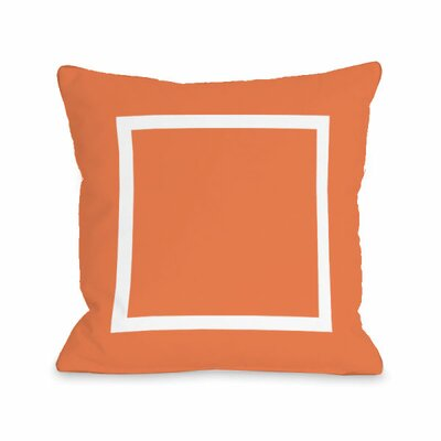 Open Box Throw Pillow Size: 16 H x 16 W x 3 D, Color: Tangerine