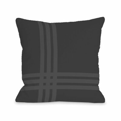 Plaid Pop Throw Pillow Size: 16 H x 16 W x 3 D, Color: Charcoal