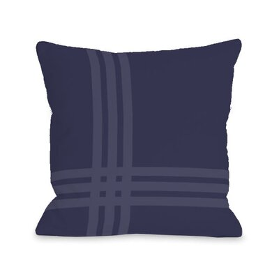 Plaid Throw Pillow Size: 16 x 16, Color: Midnight