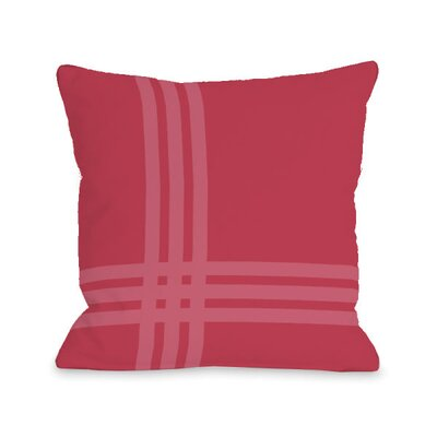 Plaid Throw Pillow Size: 18 x 18, Color: Rose