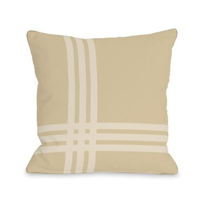 Plaid Throw Pillow Size: 18 x 18, Color: Sand
