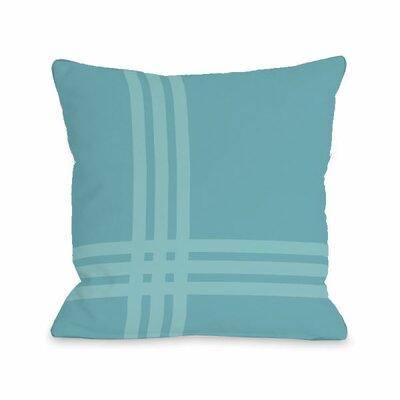 Plaid Throw Pillow Size: 16 x 16, Color: Sky