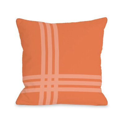 Plaid Pop Throw Pillow Size: 18 H x 18 W x 3 D, Color: Tangerine