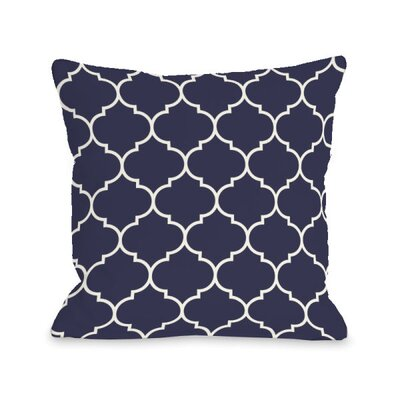 Repeating Moroccan Throw Pillow Size: 18 H x 18 W x 3 D, Color: Midnight